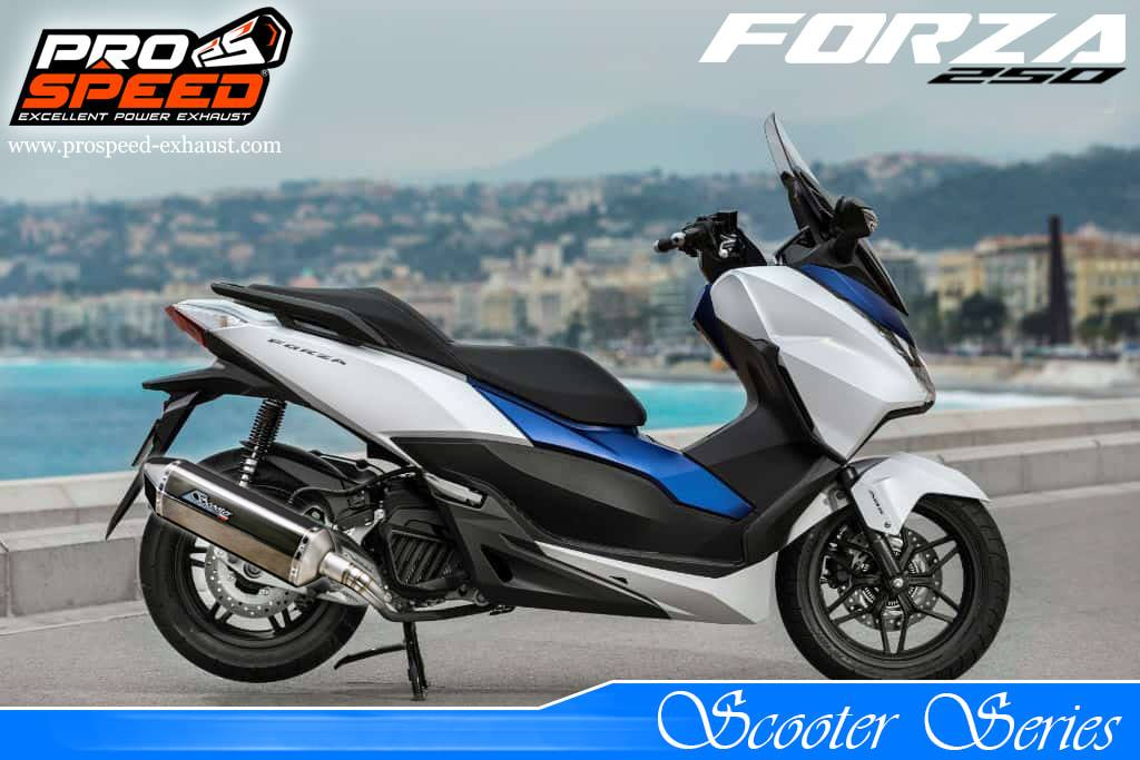 Knalpot Full System Scooter Series Forza250 - Webike Indonesia